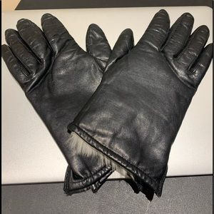 Accessories - Ladies leather and fur line gloves
